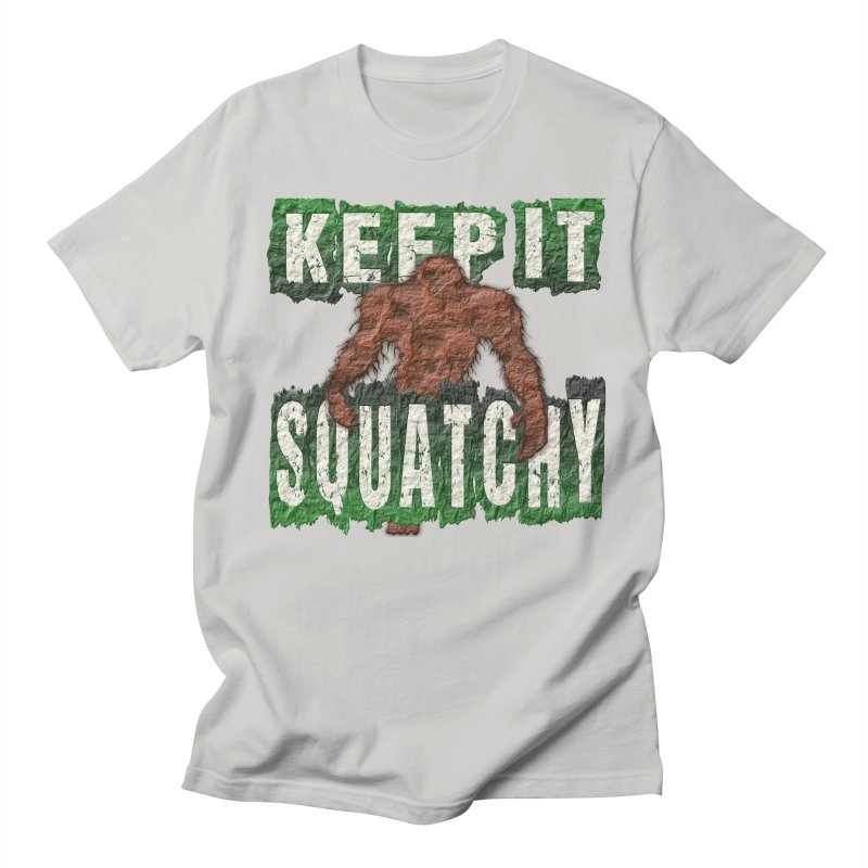 KEEP IT SQUATCHY in Men's T-Shirt Stone by Paparaw's T-Shirt Design