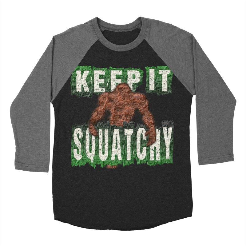 KEEP IT SQUATCHY Women's Baseball Triblend T-Shirt by Paparaw's T-Shirt Design