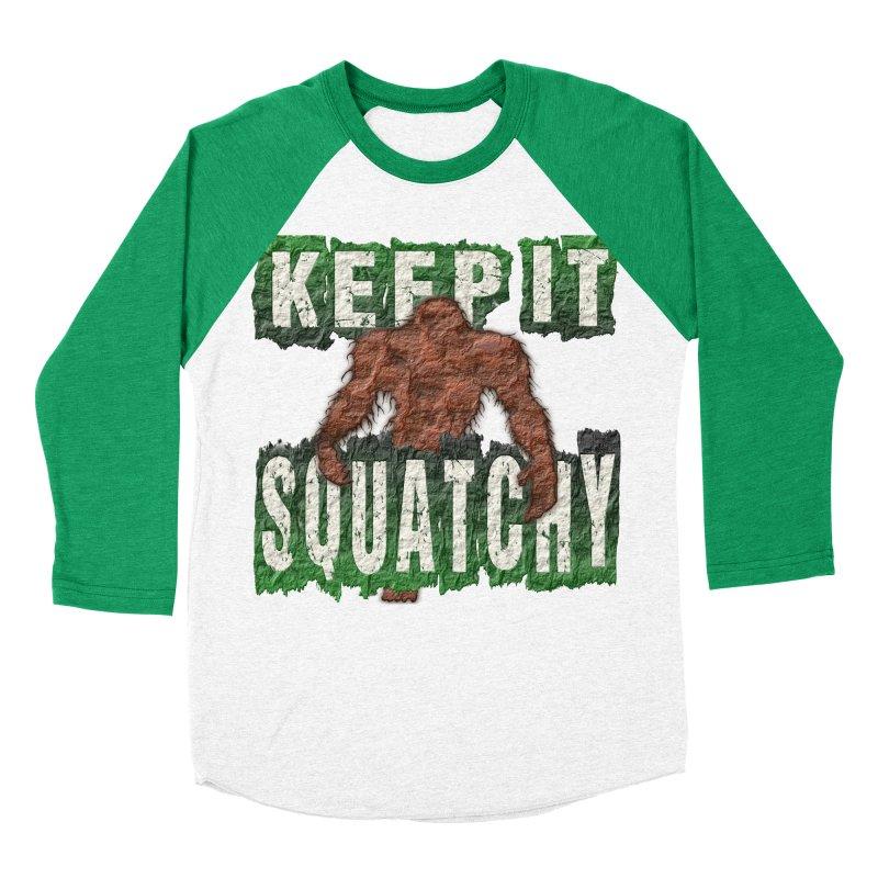 KEEP IT SQUATCHY Men's Baseball Triblend T-Shirt by Paparaw's T-Shirt Design