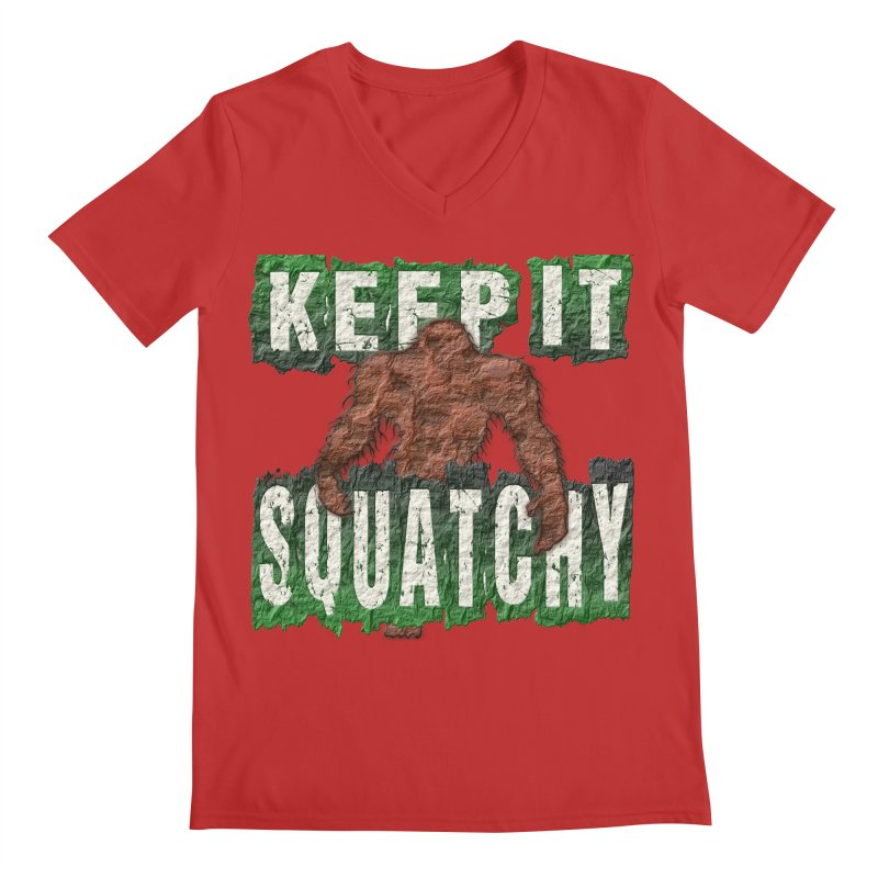 KEEP IT SQUATCHY Men's V-Neck by Paparaw's T-Shirt Design