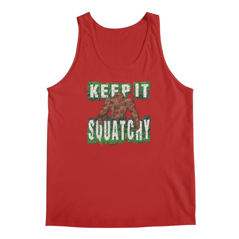 KEEP IT SQUATCHY Men's Tank by Paparaw's T-Shirt Design
