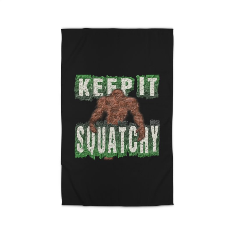 KEEP IT SQUATCHY Home Rug by Paparaw's T-Shirt Design