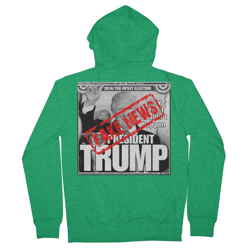 If Only It Was 'FAKE NEWS' Women's Zip-Up Hoody by Paparaw's T-Shirt Design