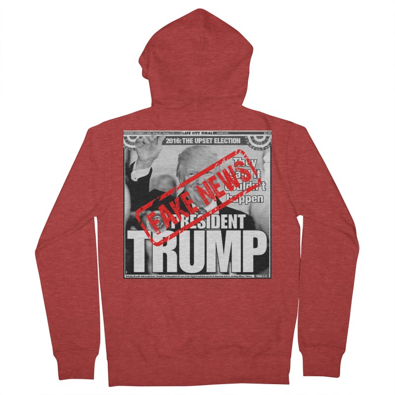 If Only It Was 'FAKE NEWS' Men's Zip-Up Hoody by Paparaw's T-Shirt Design