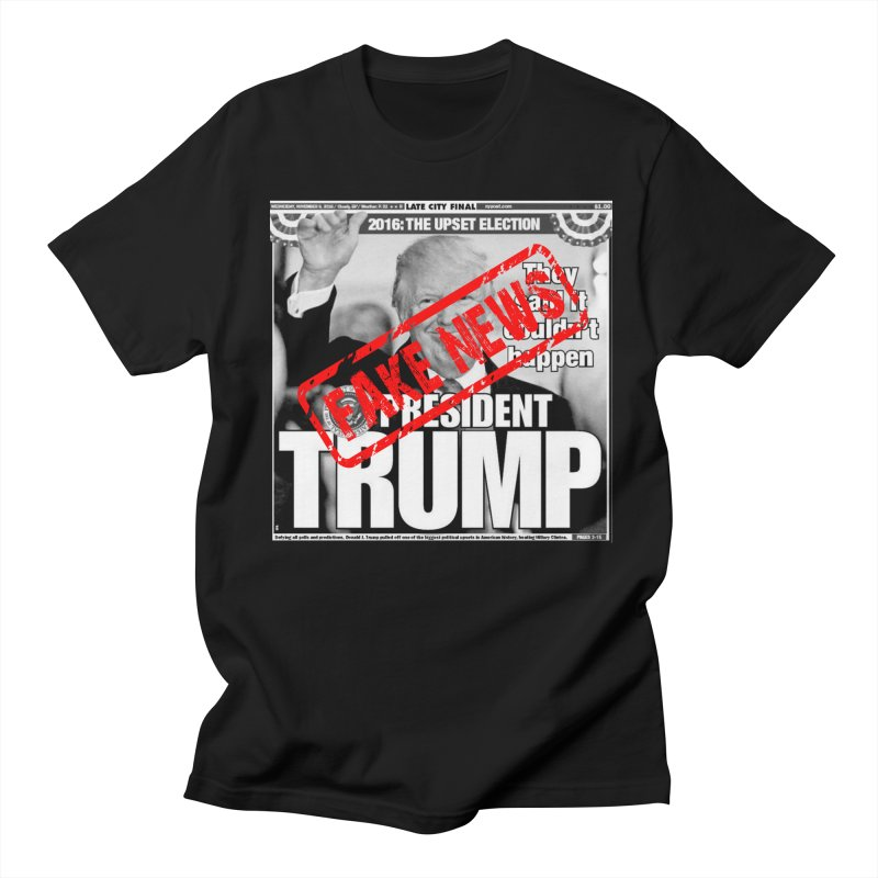 If Only It Was 'FAKE NEWS' in Men's T-Shirt Black by Paparaw's T-Shirt Design
