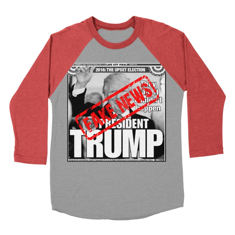 If Only It Was 'FAKE NEWS' Women's Baseball Triblend T-Shirt by Paparaw's T-Shirt Design