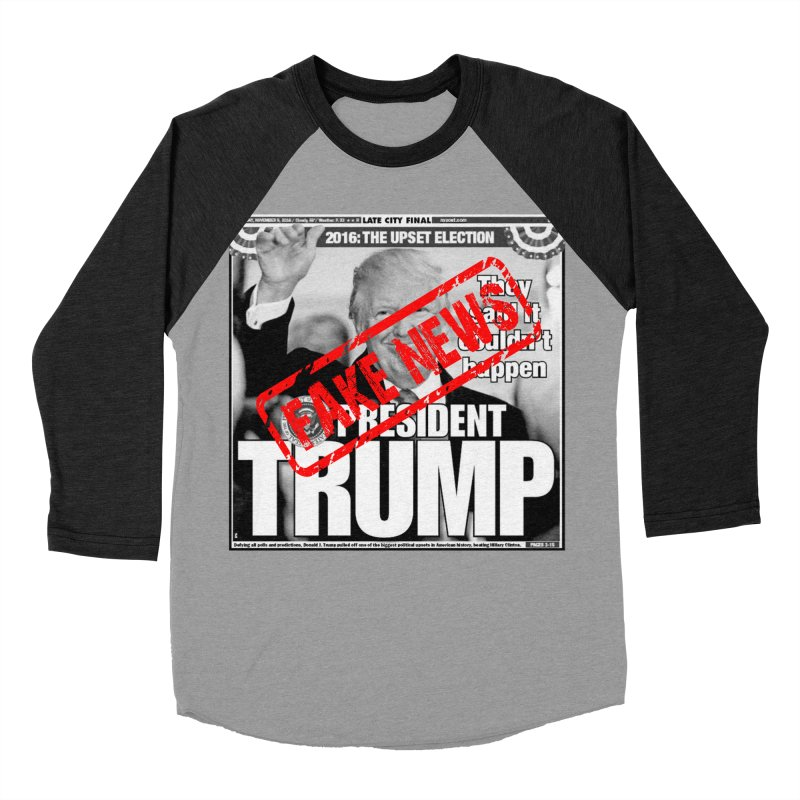 If Only It Was 'FAKE NEWS' Men's Baseball Triblend T-Shirt by Paparaw's T-Shirt Design