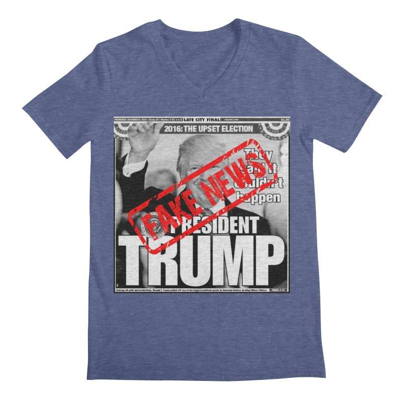 If Only It Was 'FAKE NEWS' Men's V-Neck by Paparaw's T-Shirt Design