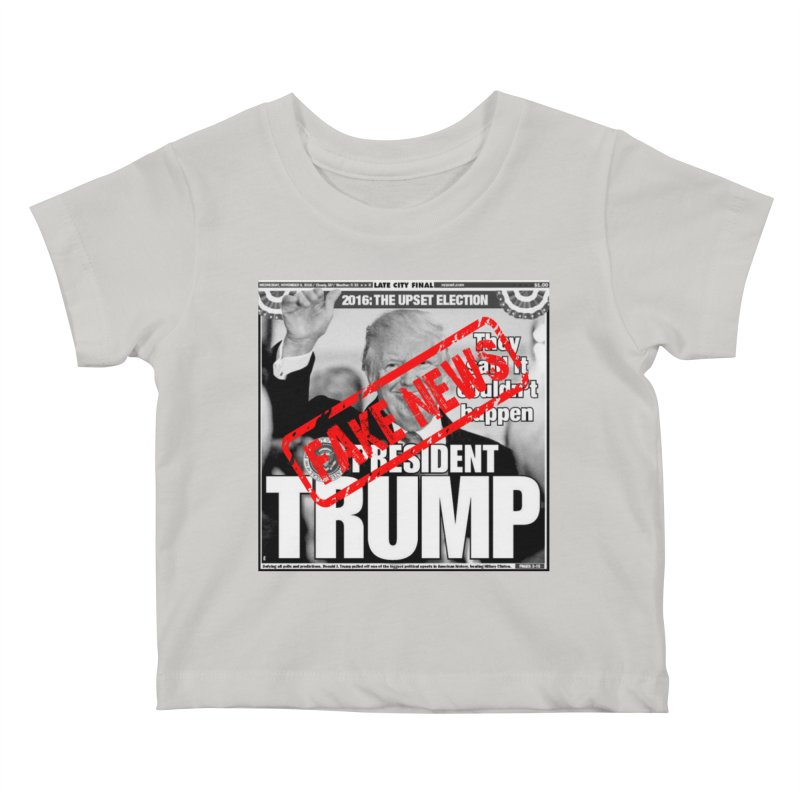 If Only It Was 'FAKE NEWS' Kids Baby T-Shirt by Paparaw's T-Shirt Design