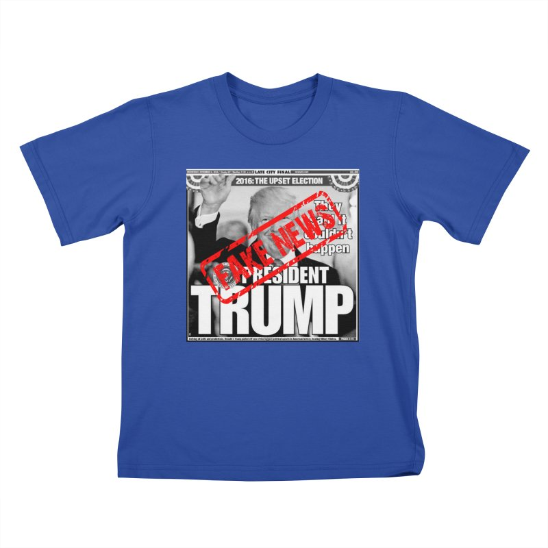 If Only It Was 'FAKE NEWS' Kids T-Shirt by Paparaw's T-Shirt Design
