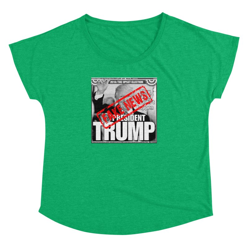 If Only It Was 'FAKE NEWS' Women's Dolman by Paparaw's T-Shirt Design