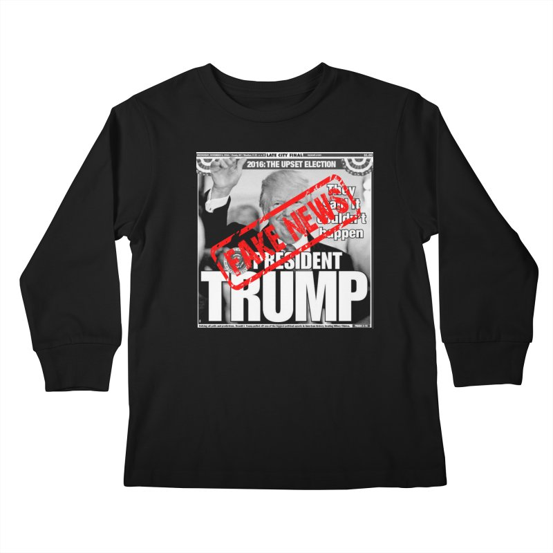 If Only It Was 'FAKE NEWS' Kids Longsleeve T-Shirt by Paparaw's T-Shirt Design