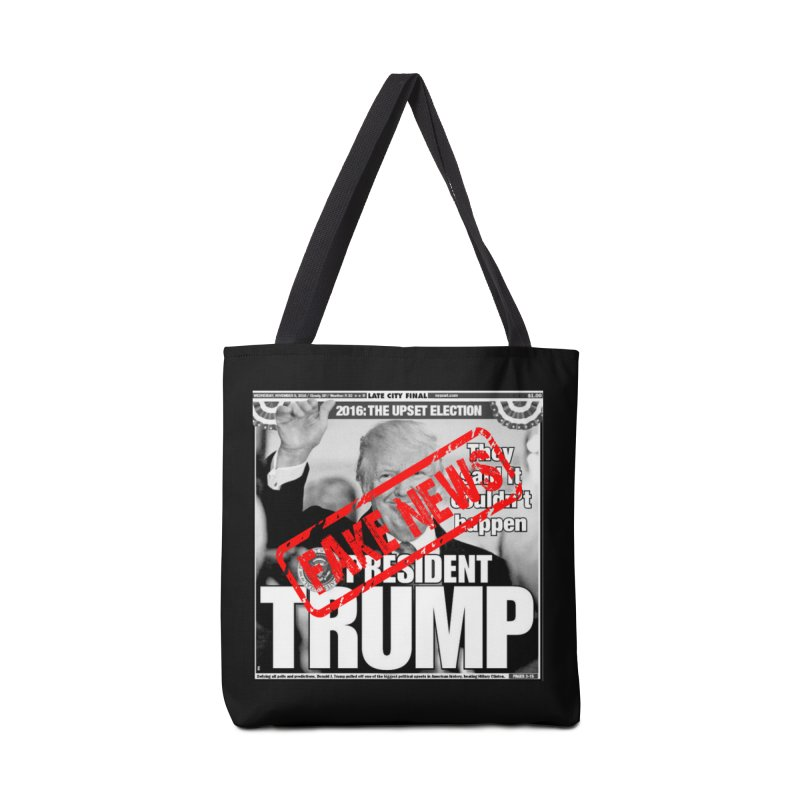 If Only It Was 'FAKE NEWS' Accessories Bag by Paparaw's T-Shirt Design