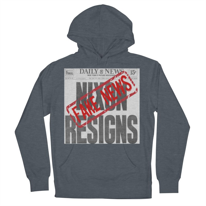 Everything Republican 'FAKE NEWS' Women's Pullover Hoody by Paparaw's T-Shirt Design