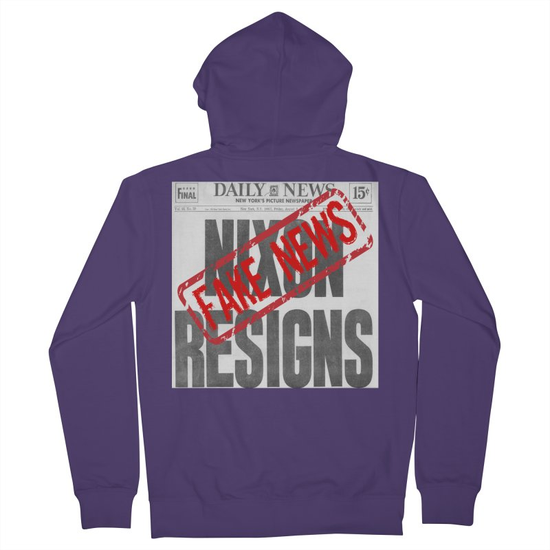 Everything Republican 'FAKE NEWS' Women's Zip-Up Hoody by Paparaw's T-Shirt Design