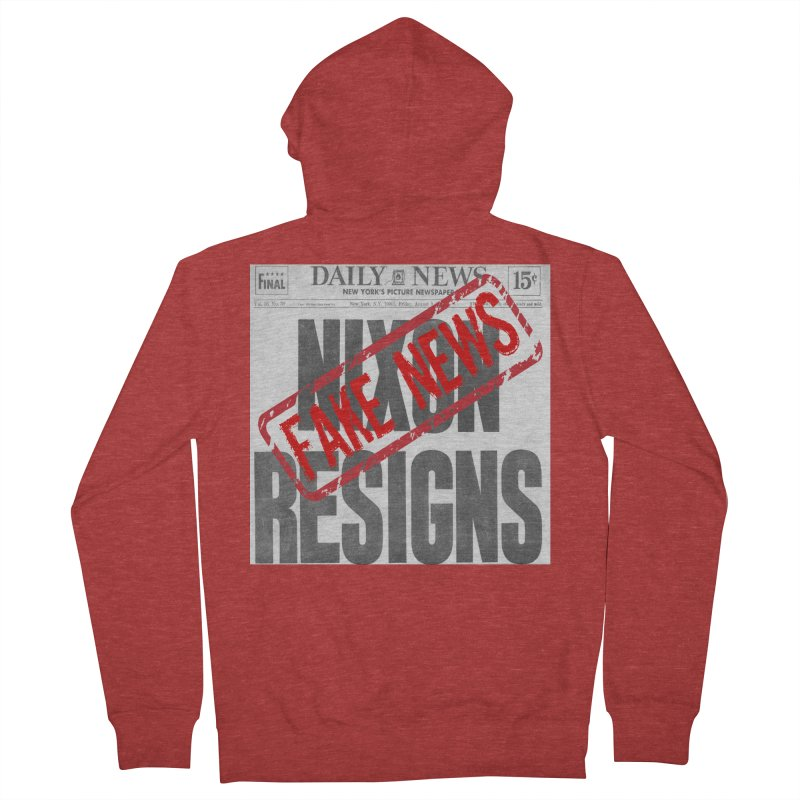 Everything Republican 'FAKE NEWS' Men's Zip-Up Hoody by Paparaw's T-Shirt Design