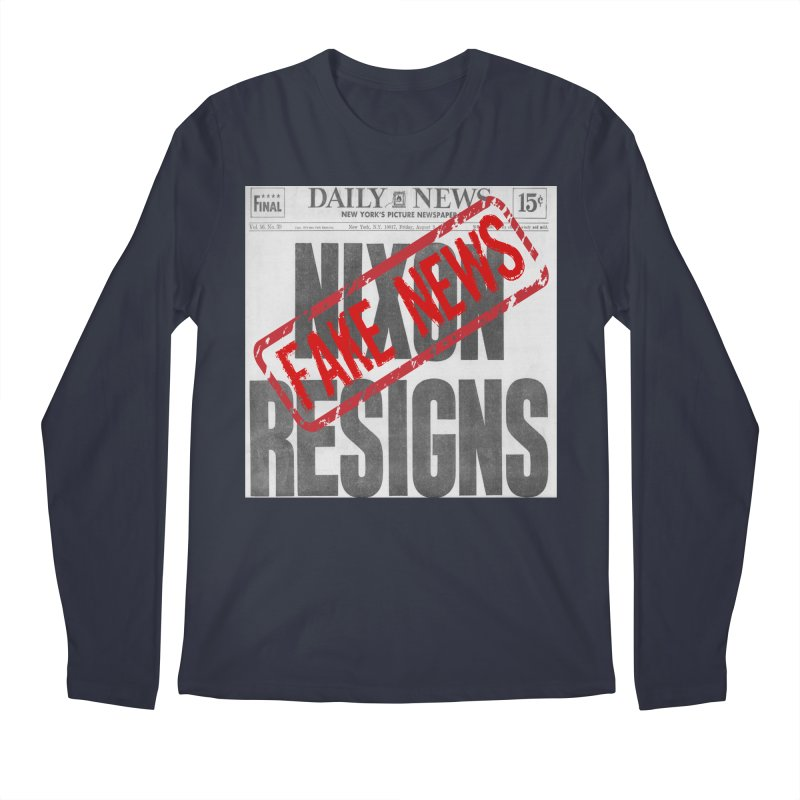 Everything Republican 'FAKE NEWS' Men's Longsleeve T-Shirt by Paparaw's T-Shirt Design