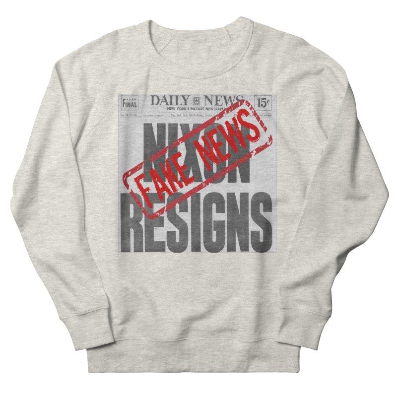 Everything Republican 'FAKE NEWS' Men's Sweatshirt by Paparaw's T-Shirt Design