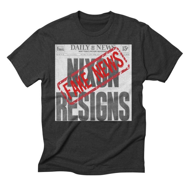 Everything Republican 'FAKE NEWS' Men's Triblend T-Shirt by Paparaw's T-Shirt Design