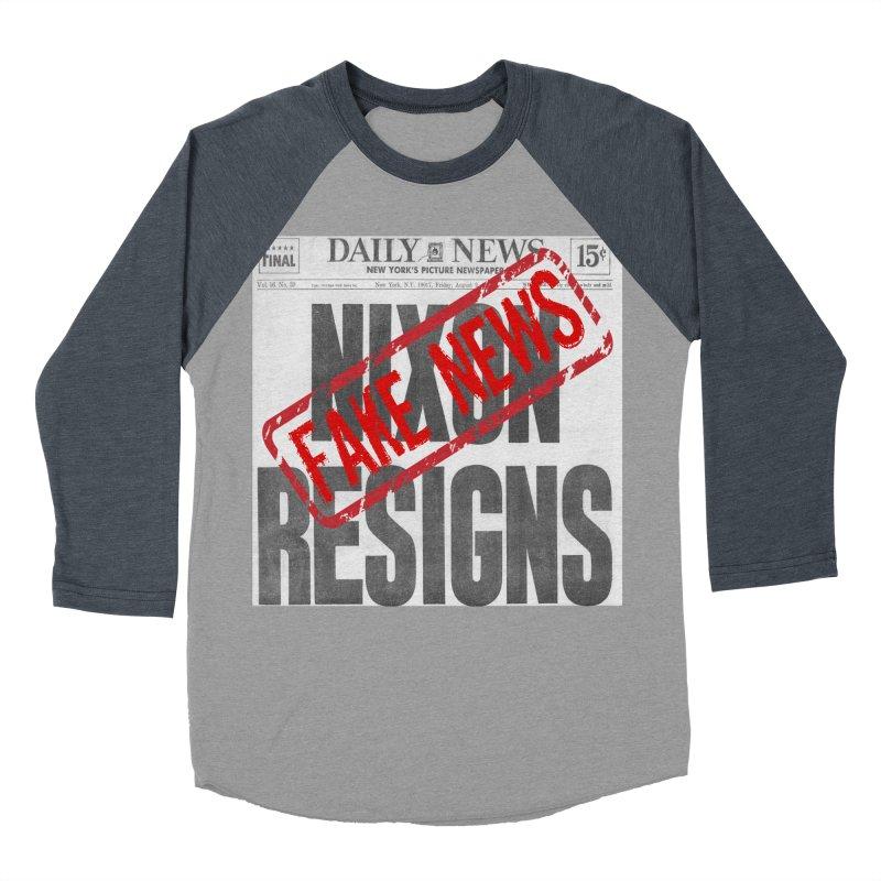 Everything Republican 'FAKE NEWS' Men's Baseball Triblend T-Shirt by Paparaw's T-Shirt Design