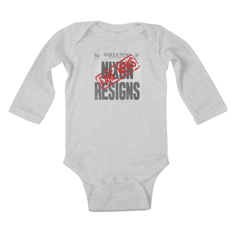 Everything Republican 'FAKE NEWS' Kids Baby Longsleeve Bodysuit by Paparaw's T-Shirt Design