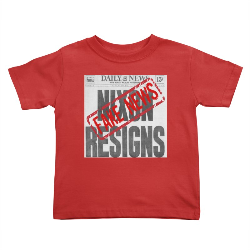 Everything Republican 'FAKE NEWS' Kids Toddler T-Shirt by Paparaw's T-Shirt Design