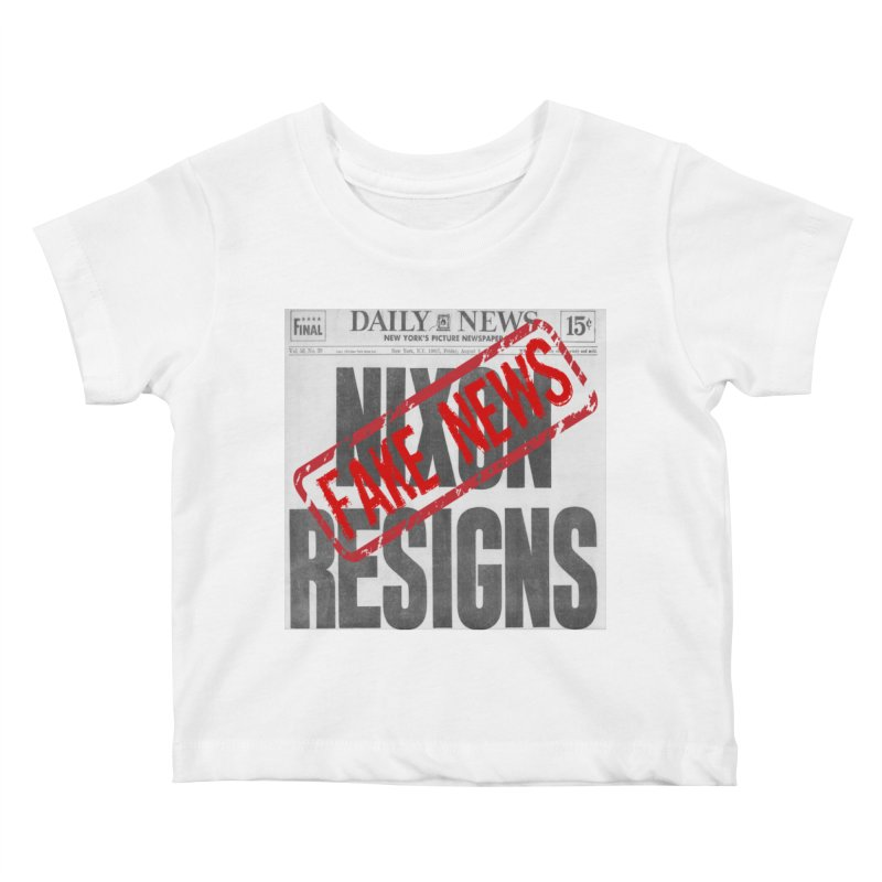 Everything Republican 'FAKE NEWS' Kids Baby T-Shirt by Paparaw's T-Shirt Design