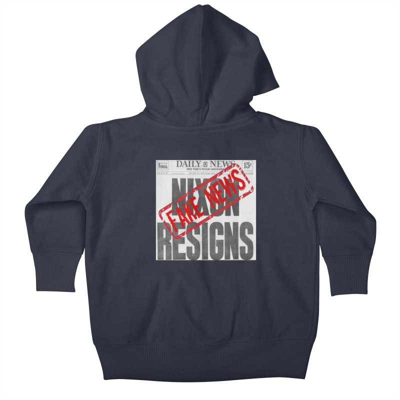 Everything Republican 'FAKE NEWS' Kids Baby Zip-Up Hoody by Paparaw's T-Shirt Design