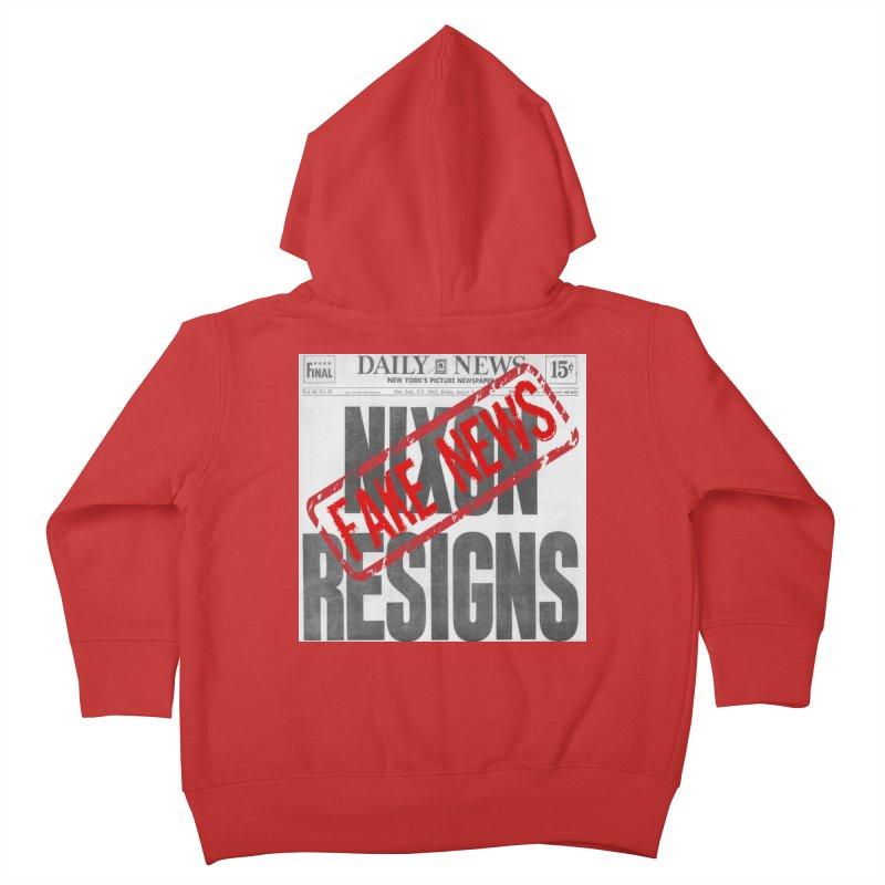Everything Republican 'FAKE NEWS' Kids Toddler Zip-Up Hoody by Paparaw's T-Shirt Design