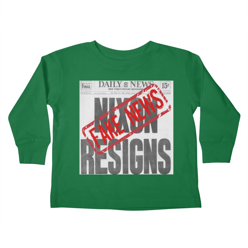Everything Republican 'FAKE NEWS' Kids Toddler Longsleeve T-Shirt by Paparaw's T-Shirt Design