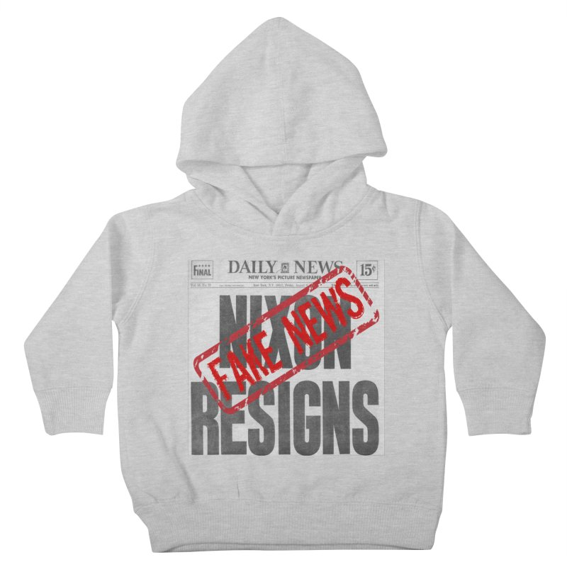 Everything Republican 'FAKE NEWS' Kids Toddler Pullover Hoody by Paparaw's T-Shirt Design