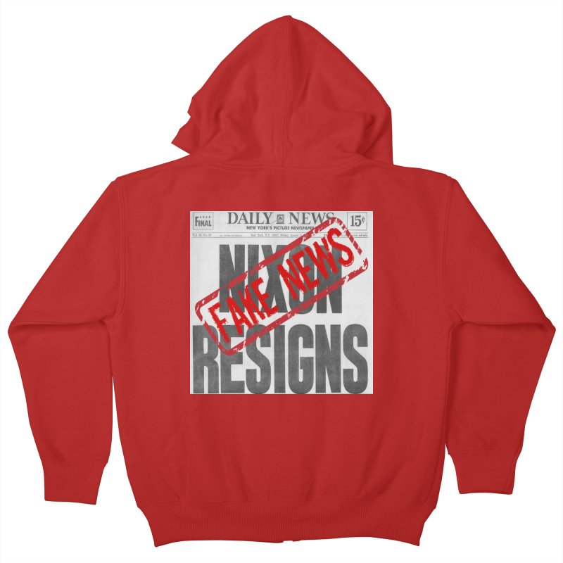 Everything Republican 'FAKE NEWS' Kids Zip-Up Hoody by Paparaw's T-Shirt Design