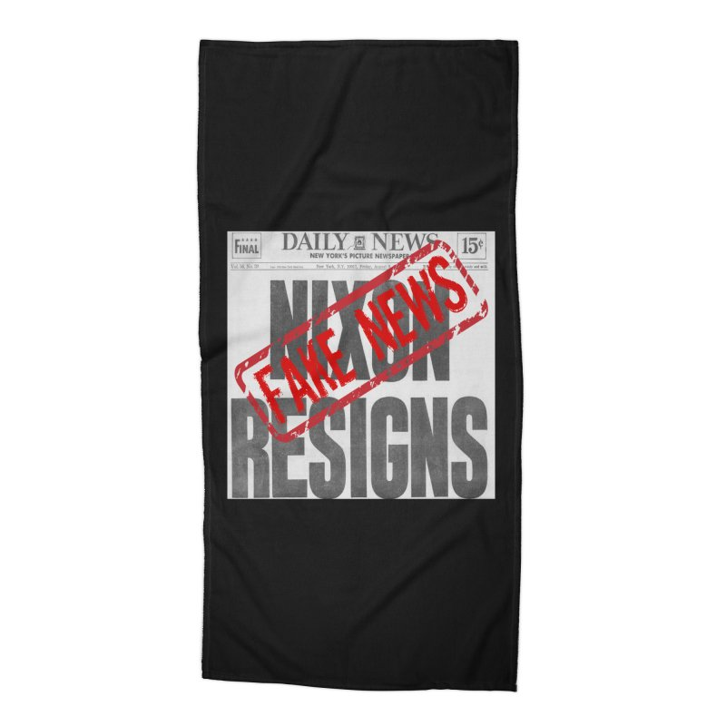 Everything Republican 'FAKE NEWS' Accessories Beach Towel by Paparaw's T-Shirt Design