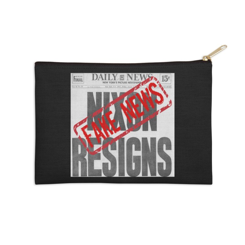 Everything Republican 'FAKE NEWS' Accessories Zip Pouch by Paparaw's T-Shirt Design