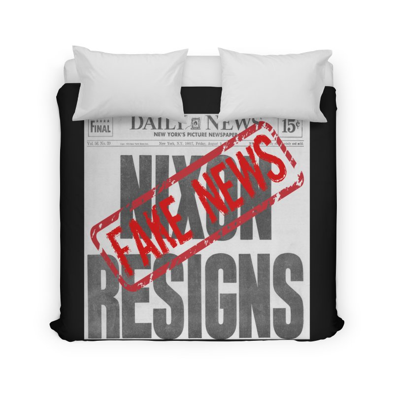 Everything Republican 'FAKE NEWS' Home Duvet by Paparaw's T-Shirt Design