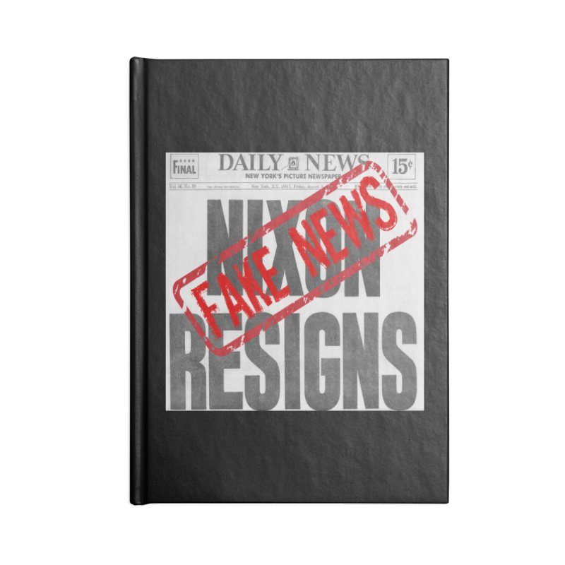 Everything Republican 'FAKE NEWS' Accessories Notebook by Paparaw's T-Shirt Design