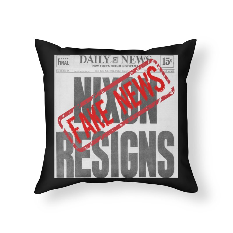 Everything Republican 'FAKE NEWS' Home Throw Pillow by Paparaw's T-Shirt Design