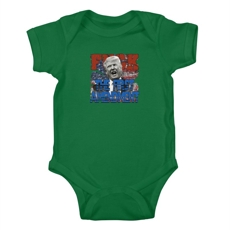 F##K THE FIRST AMENDMENT Kids Baby Bodysuit by Paparaw's T-Shirt Design