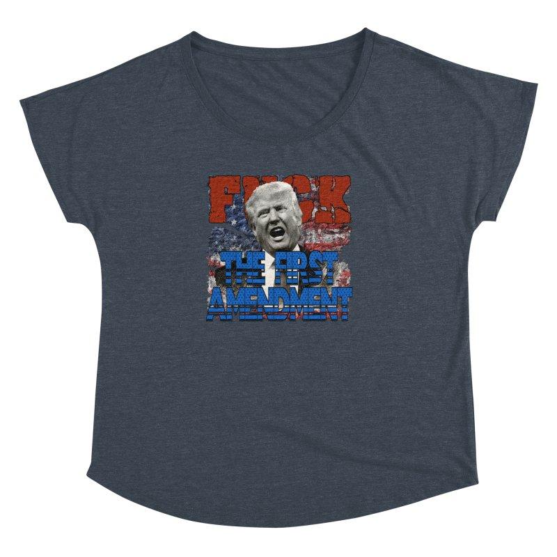 F##K THE FIRST AMENDMENT Women's Dolman by Paparaw's T-Shirt Design