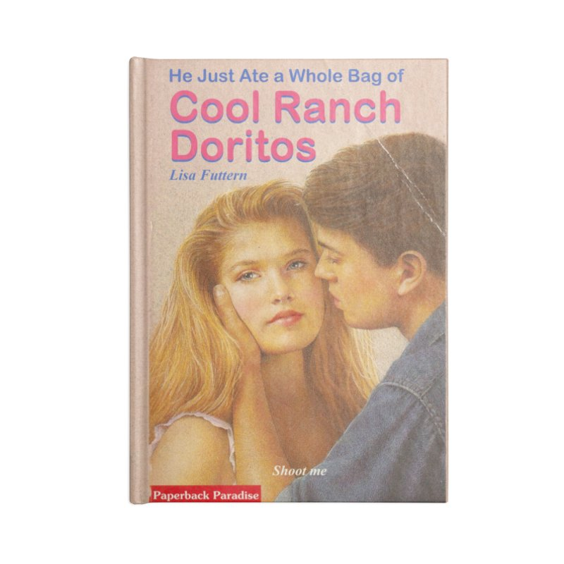 Cool Ranch Doritos in Blank Journal Notebook by Paperback Paradise