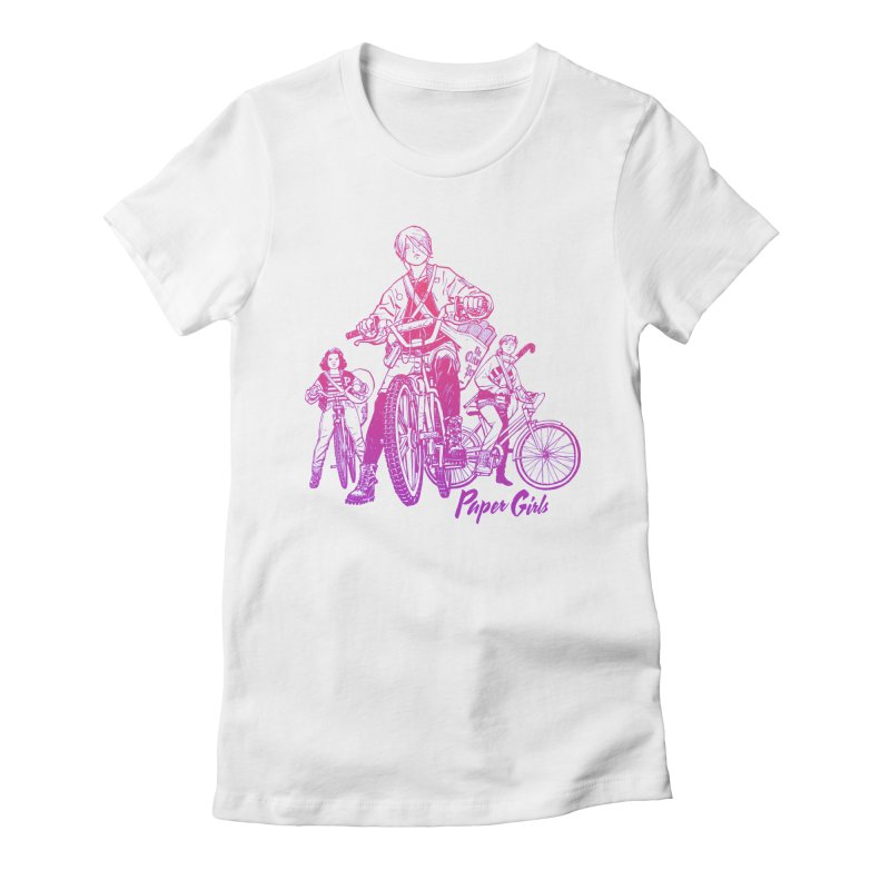 Squad Goals Women's Fitted T-Shirt by Paper Girls Shop