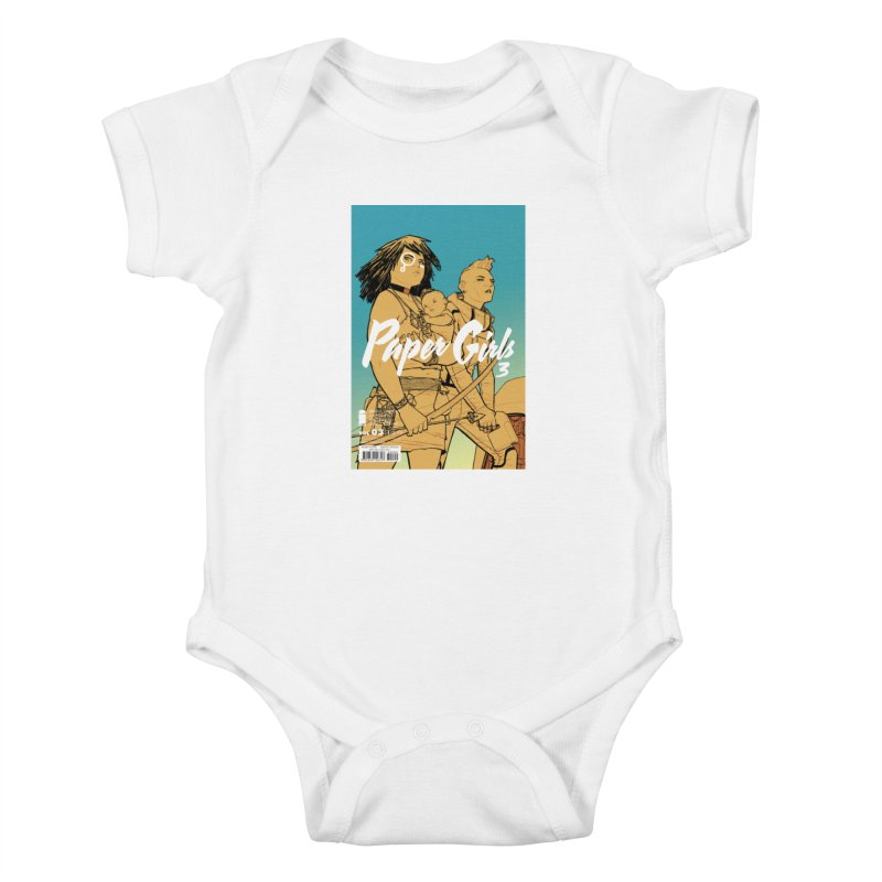 Three to Get Ready Kids Baby Bodysuit by Paper Girls Shop