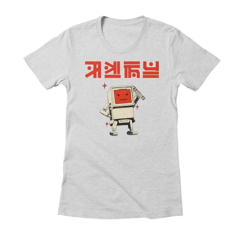 Dash Dash Dot Women's Fitted T-Shirt by Paper Girls Shop