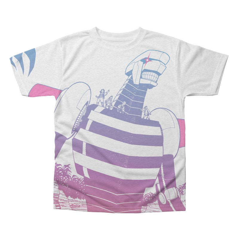 Giant Robot - All-Over Print Men's Triblend All Over Print by Paper Girls Shop