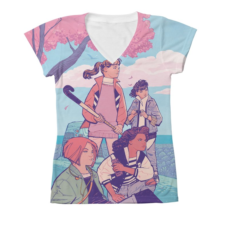Stony Stream Queens - All-Over Print Women's V-Neck All Over Print by Paper Girls Shop