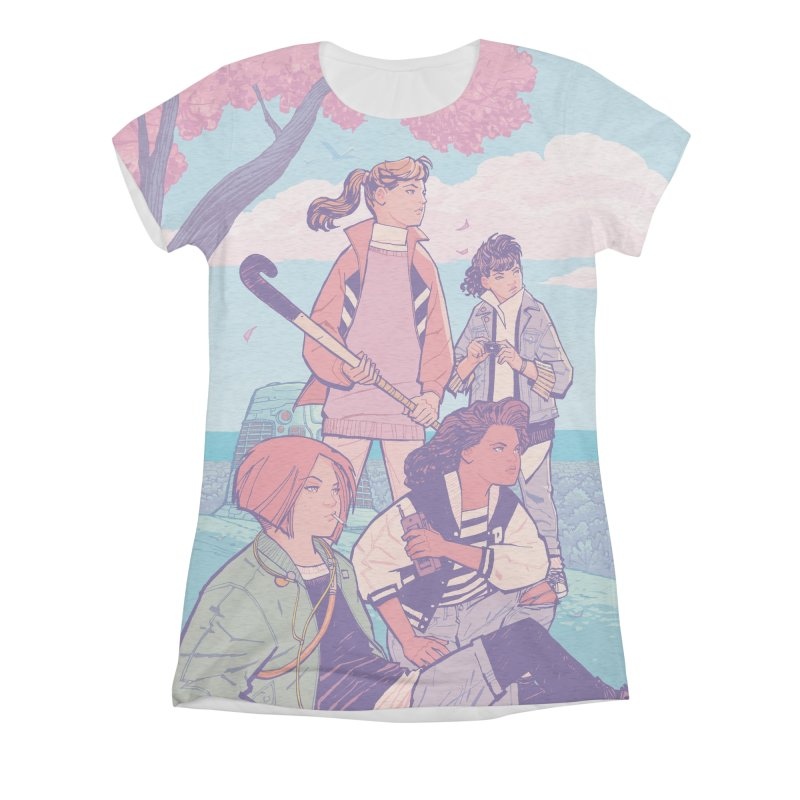 Stony Stream Queens - All-Over Print Women's Triblend All Over Print by Paper Girls Shop