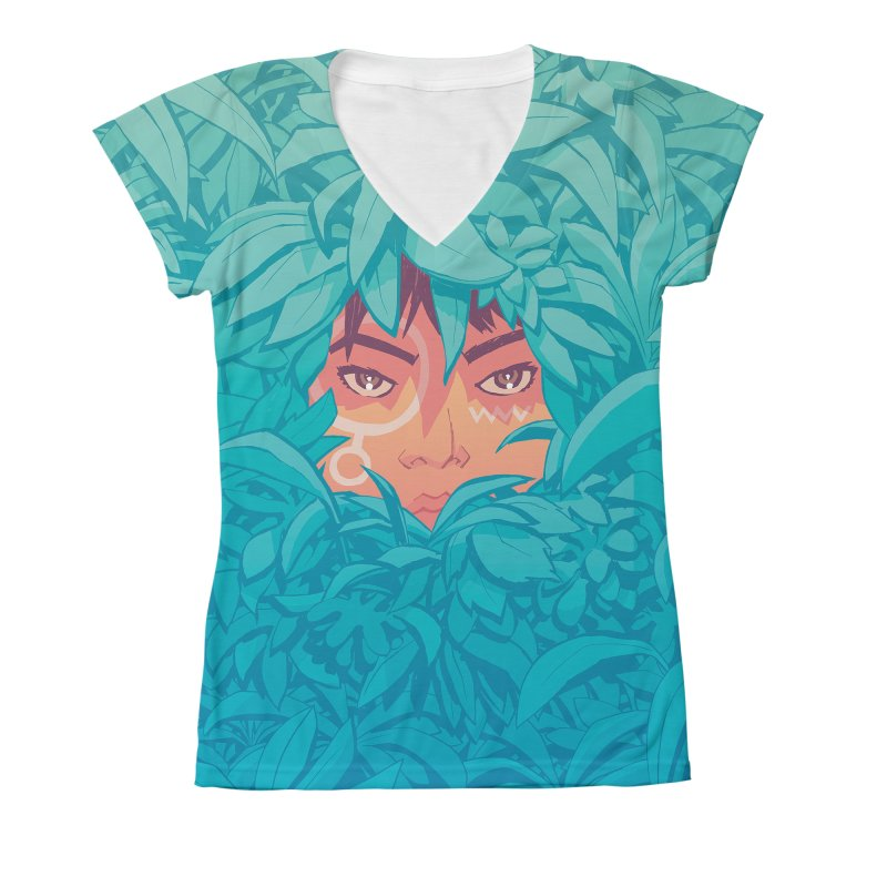 Wari - All-Over Print Women's V-Neck All Over Print by Paper Girls Shop