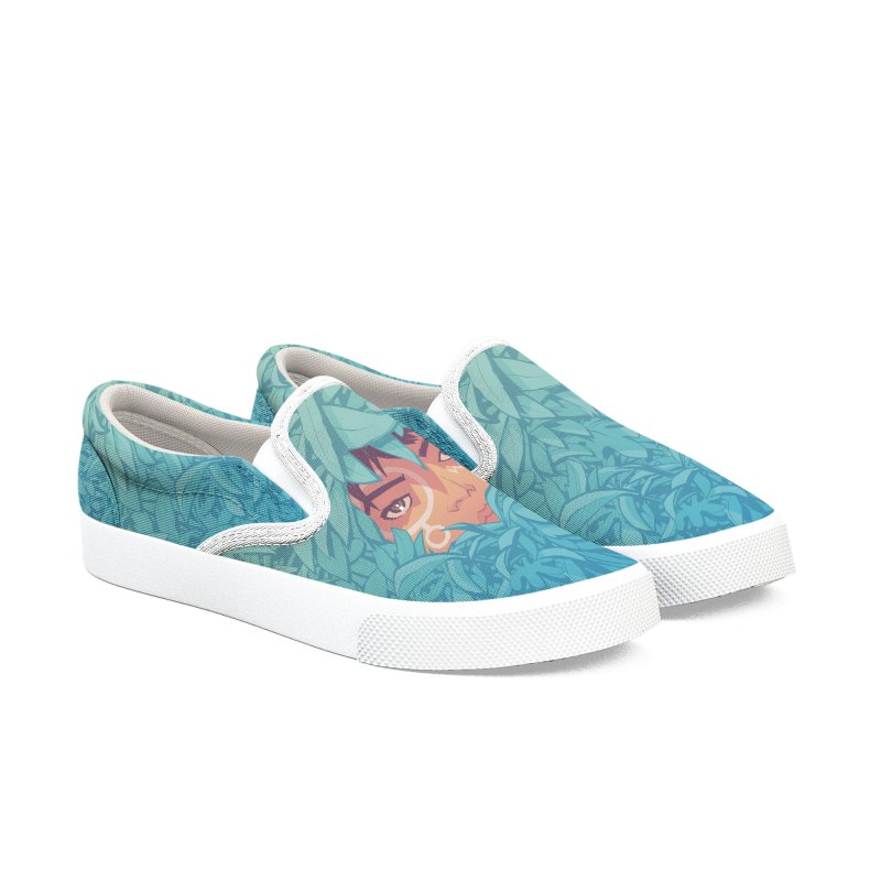 Wari - All-Over Print Men's Slip-On Shoes by Paper Girls Shop