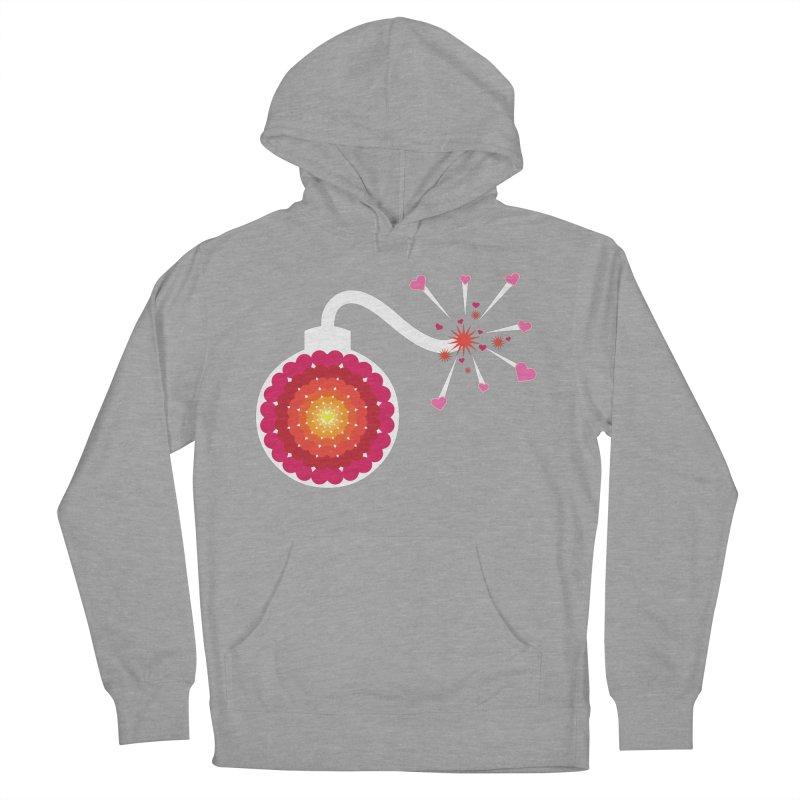 Love Bomb Men's Pullover Hoody by Paper Heart Dispatch's Artist Shop