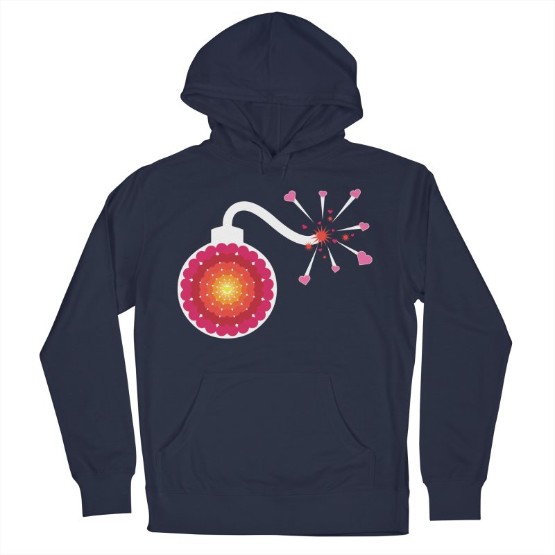 Love Bomb Men's Pullover Hoody by Paper Heart Dispatch's Artist Shop